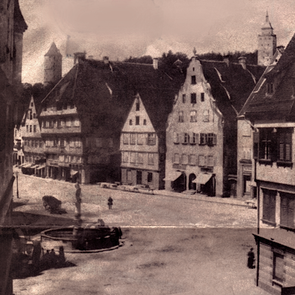 Historische Ansicht Markplatz Biberach 1935